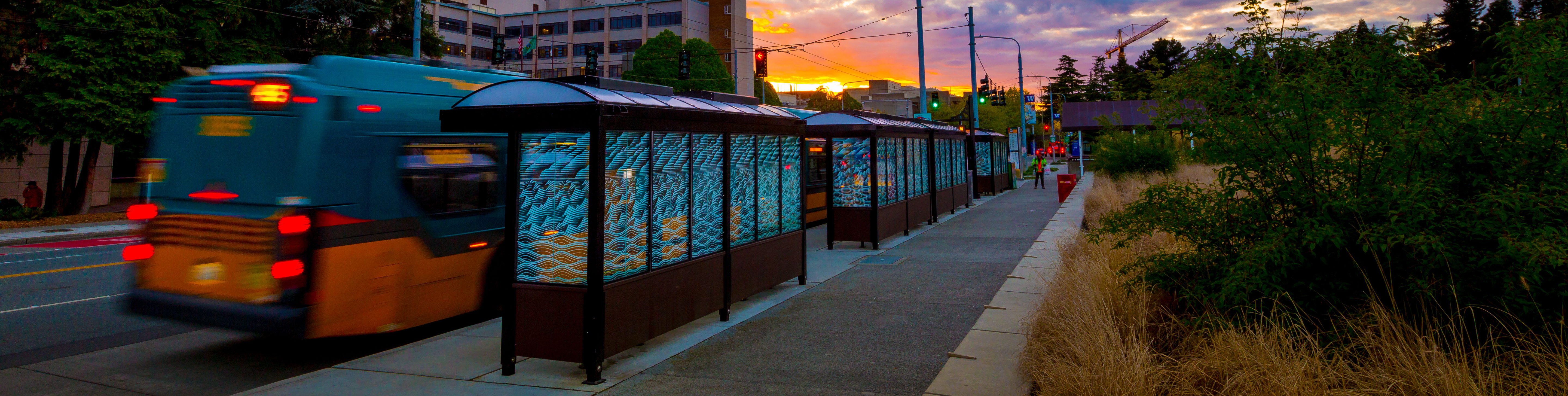 Urban Solar bus stops in Seattle on April 20, 2017.(Photography by Scott Eklund/Red Box Pictures)
